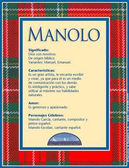 Nombre Manolo
