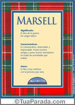 Nombre Marsell
