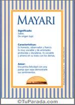 Nombre Mayari