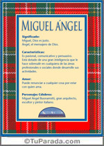 Miguel ángel Significado Del Nombre Miguel ángel Nombres Y