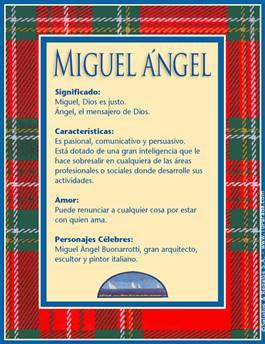 Miguel ángel Significado Del Nombre Miguel ángel