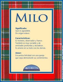 Nombre Milo