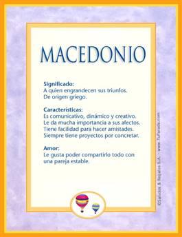Nombre Macedonio