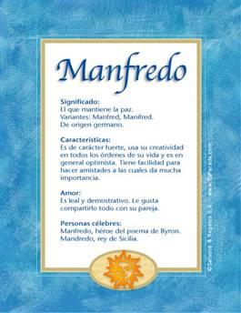 Nombre Manfredo