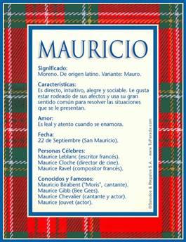 Nombre Mauricio