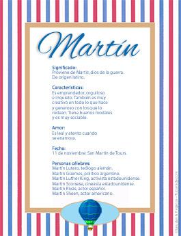 Nombre Martín