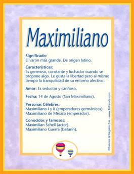 Nombre Maximiliano