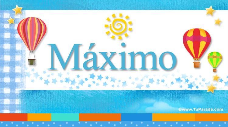 Máximo, imagen de Máximo