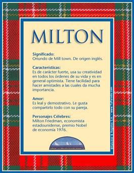 Nombre Milton