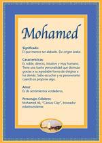 Nombre Mohamed
