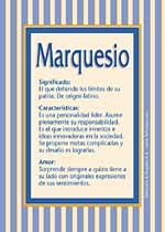 Nombre Marquesio