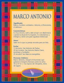 Nombre Marco Antonio