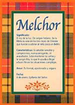 Nombre Melchor