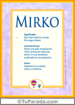 Nombre Mirko