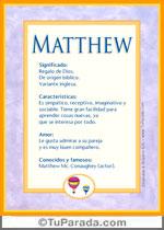 Nombre Matthew
