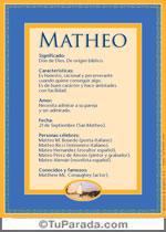 Nombre Matheo