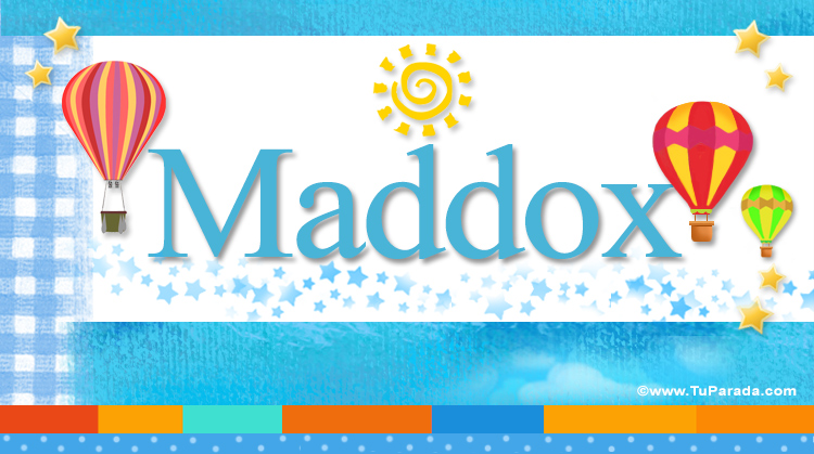 Maddox, imagen de Maddox