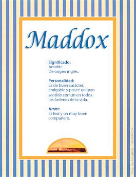 Nombre Maddox