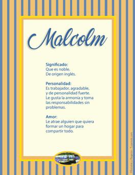 Nombre Malcolm