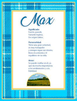 Nombre Max
