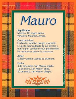 Nombre Mauro