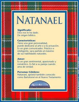 Nombre Natanael