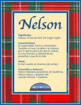 Nombre Nelson