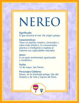 Nombre Nereo