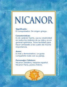 Nombre Nicanor