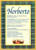 Nombre Norberto