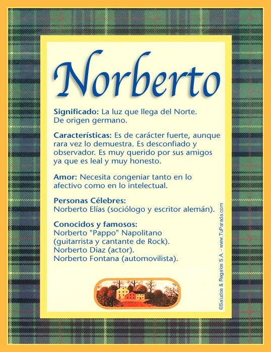 Enviar Tarjeta Postal Norberto