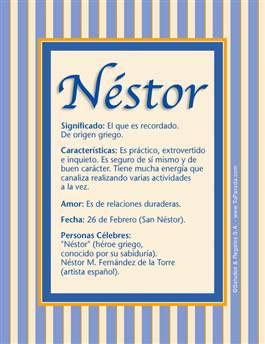 Nombre Néstor