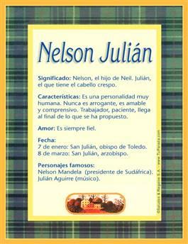 Nombre Nelson Julián