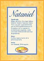 Nombre Nataniel