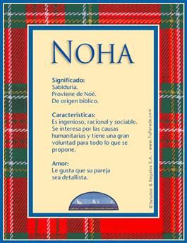 Nombre Noha