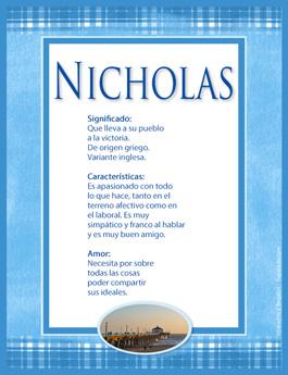 Nombre Nicholas