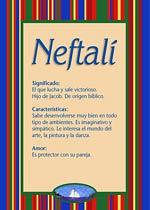 Nombre Neftali