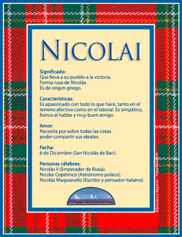 Nombre Nicolai