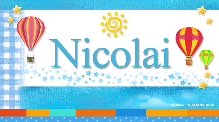 Nicolai, imagen de Nicolai