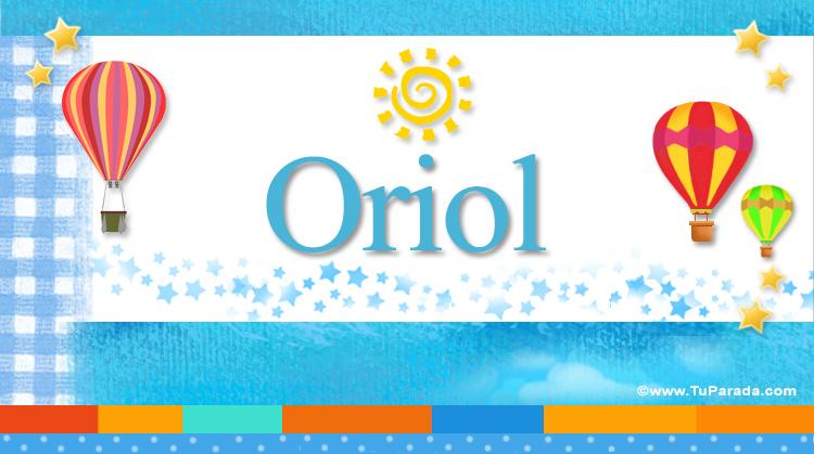 Oriol, imagen de Oriol
