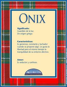 Nombre Onix