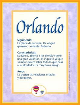 Nombre Orlando