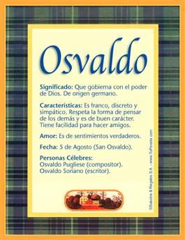 Nombre Osvaldo