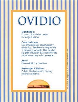 Nombre Ovidio