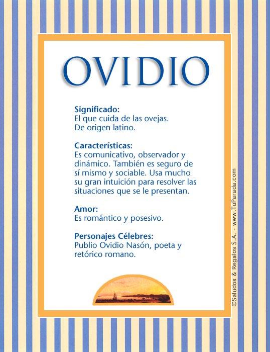 Ovidio O Tarjetas