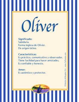Nombre Oliver