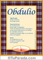 Nombre Obdulio