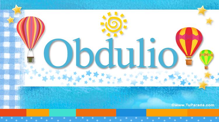 Obdulio, imagen de Obdulio