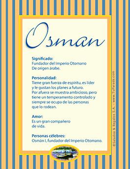 Nombre Osman