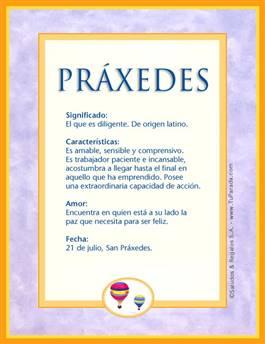 Nombre Práxedes